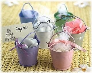 Mini galvanized bucket favours