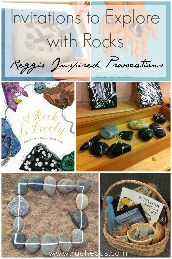 """Invitations to Explore with Rocks   Reggio Provocations - from Racheous - Lovable Learning ("""",)"""