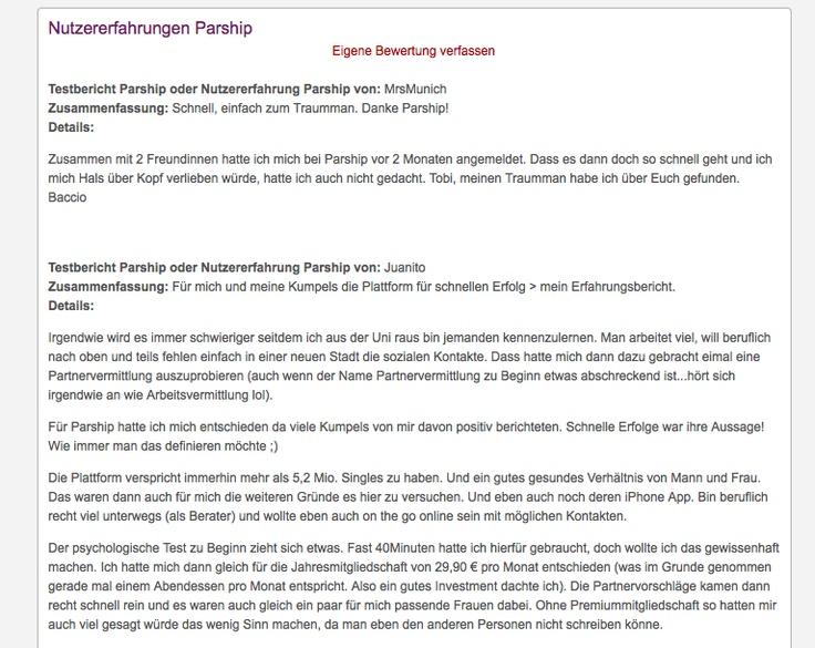 Test Partnervermittlungen 2014