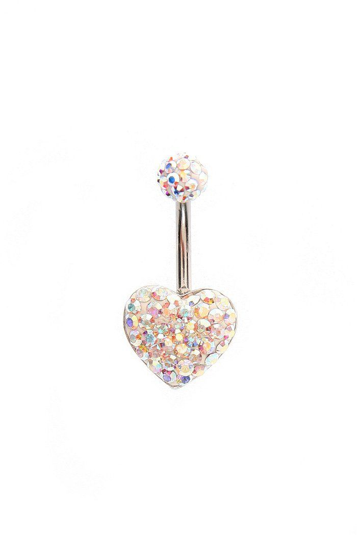 Cute belly button ring.
