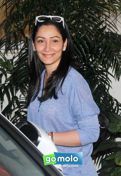 Manyata Dutt at the Screening of Hindi movie 'Drishyam' at Sunny Super Sound in Juhu, Mumbai