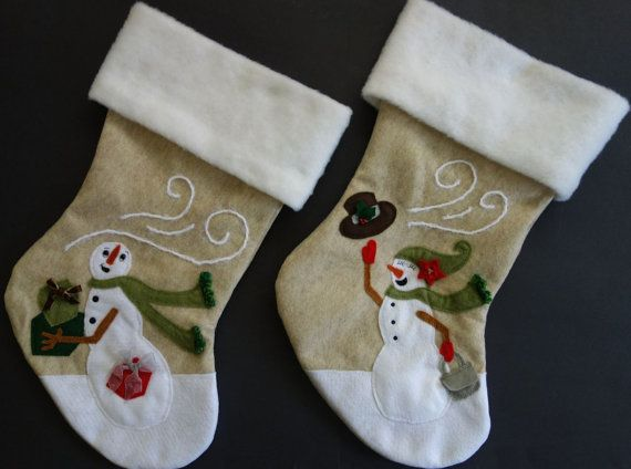 Couples Christmas Stocking Set Mr. and Mrs. by HeartfeltStockings