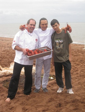Chef @SusurLee at the #PEI #Fall #Flavours #Festival's #Lobster on the Beach! Photo via @DerekMacEwen www.fallflavours.ca