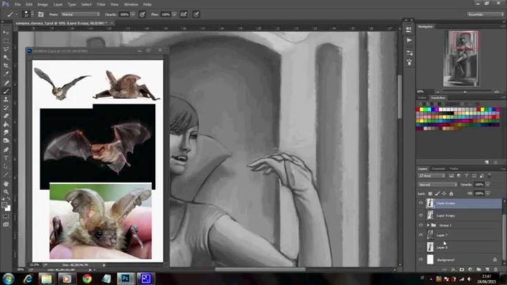 Digital Painting Tutorial: Vampira Parte 2/3