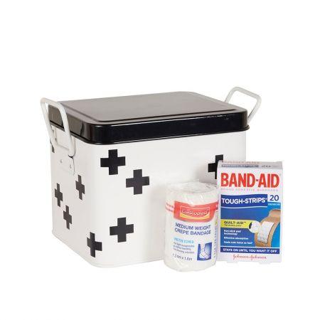 Howards Storage World | Retro Kitchen Medicine Box Mini - Cross