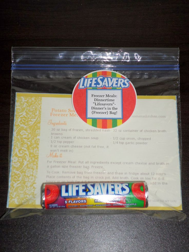 "Add A Pinch Of Sparkle: Freezer Meals: Dinnertime ""Lifesavers"". Relief Society Activity on freezer meals with handout idea."
