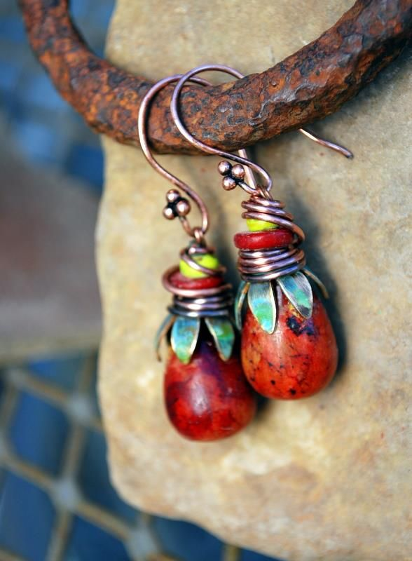 Melinda Orr Metal & Clay Jewelry Designs~ I like the background for this pic... creative~ svg