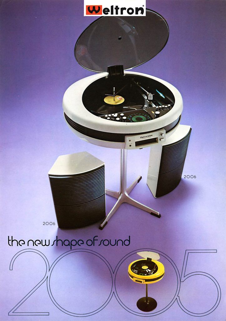 From stereo 'eggs' to spaceship jukeboxes, we've collected some of the most visually striking stereo designs from the Space Age.