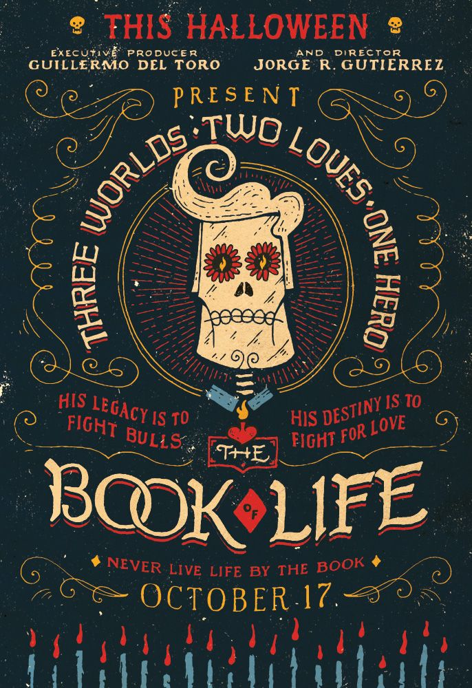 The Festive Art of 'The Book of Life' (source: http://www.youthedesigner.com/graphic-design-tips/jon-contino-art-the-book-of-life/)