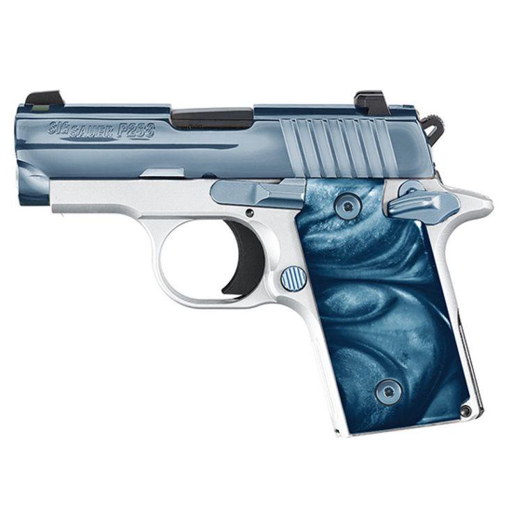 Sig Sauer P238 380ACP Blue Ice High Polish Stainless Steel Slide 6RD - Anacortes Gun Shop
