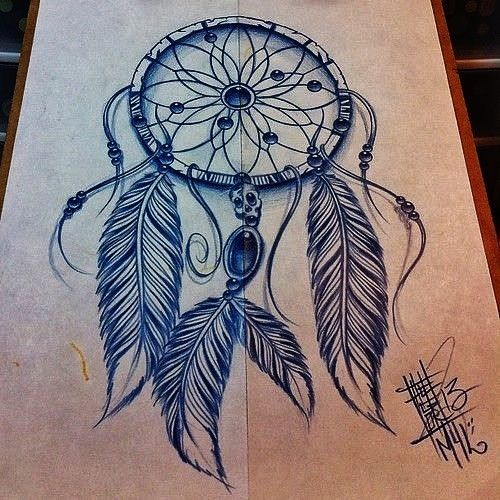 Dreamcatcher Tattoo Design by linda