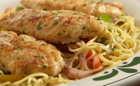 Chicken Scampi the same delicious recipe as Shrimp Scampi only substituting chicken for shrimp. It's a tasty chicken recipe only cheaper. This easy to make chicken recipe uses butter and olive o