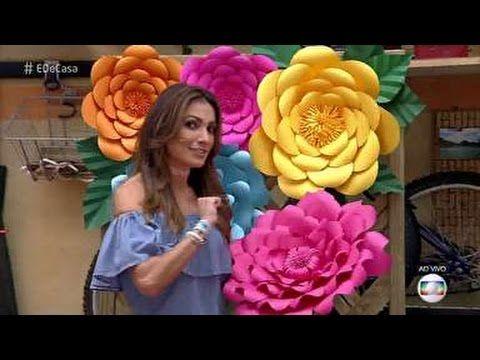 É de Casa - Veja como fazer flores de papel para decoração - 01/10/2016