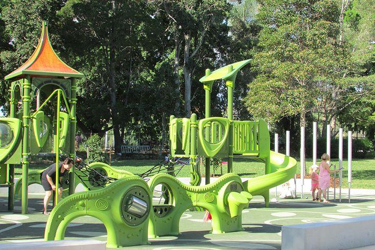 new part at the City Botanic Gardens Playground - Brisbane