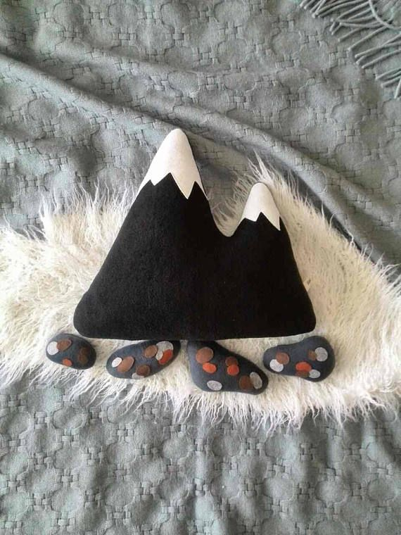 Tres montañas almohada vivero decoración almohada montaña