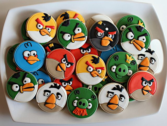 Simple Angry Birds Cookies by SweetSugarBelle, via Flickr