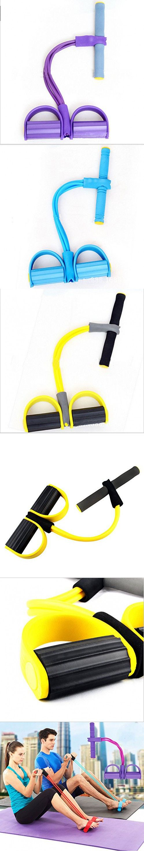 Juenana 4 Rope Resistance Band Body Tummy Workout GYM Abdominal Trainer Fitness Yoga Set