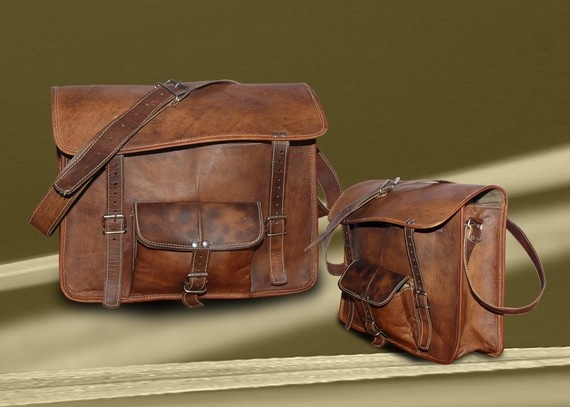 Pure Genuine Handmade Soft Leather 13 Inches/inch Satchel School/College/iPad Bag Laptop Macbook Messenger Shoulder Handbag/Bags/Attache. $55.00, via Etsy.