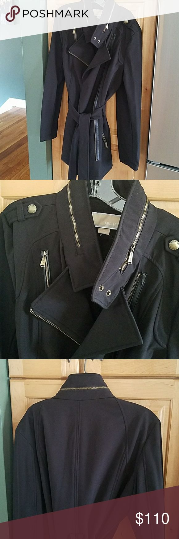 NWT Michael kors water resistant jacket NWT womens Michael kors jacket size medium.  All reasonable offers considered.  Thanks for looking!!  ???? MICHAEL Michael Kors Jackets & Coats Trench Coats