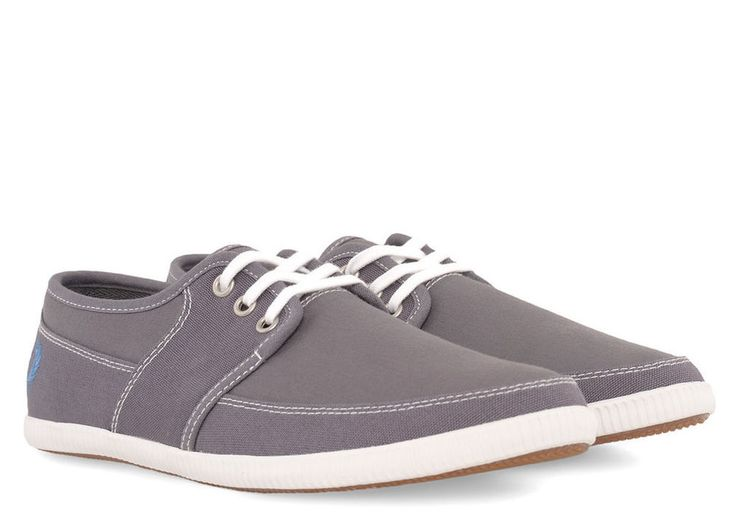 Fred Perry B4185 Tonic Canvas Mens Shoe Steel Grey BNIB UK Size 7