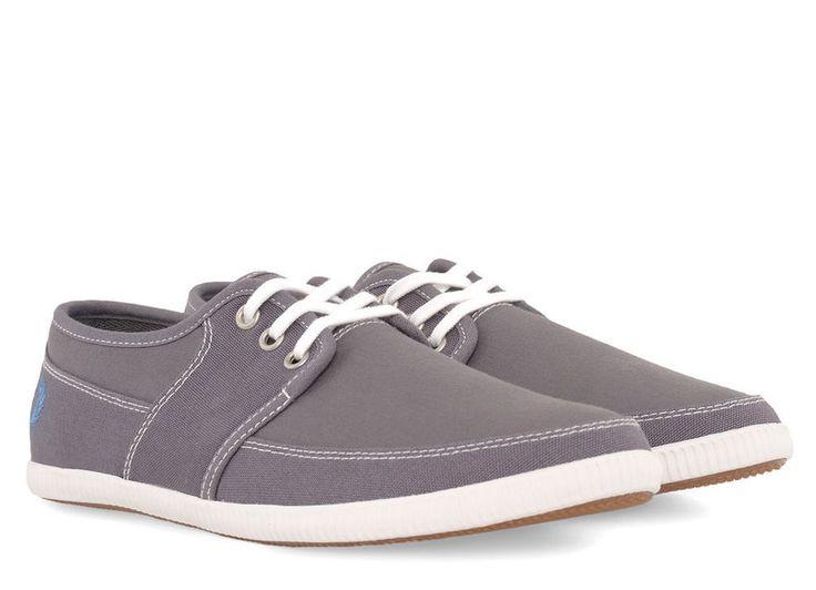 Fred Perry B4185 Tonic Canvas Mens Shoe Steel Grey BNIB UK Size 7