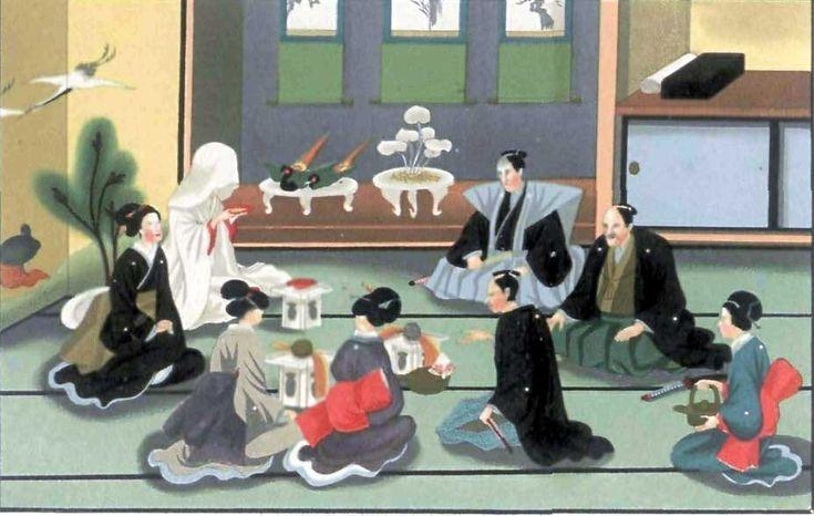 江戸時代の結婚式    『日本の礼儀と習慣のスケッチ』より、1867年(慶応3年)出版