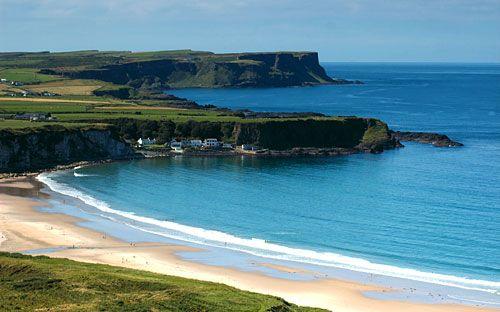 White Park Bay beach, Antrim, Northern Ireland, UK