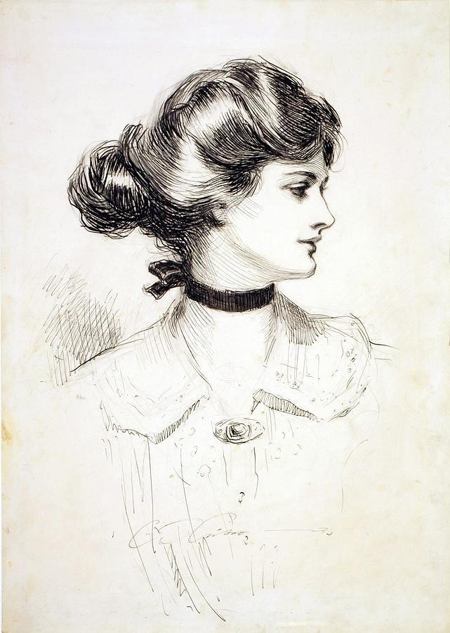 1909 Drawing By Charles Dana Gibson