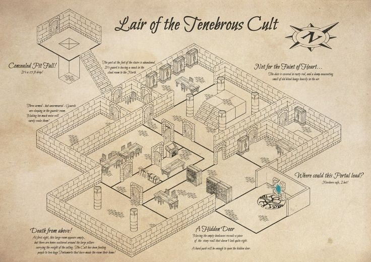 Dungeon Builder - Isometric Dungeon Map Maker app software - Lair of the Tenebrous Cult map cartography | Create your own roleplaying game material w/ RPG Bard: www.rpgbard.com | Writing inspiration for Dungeons and Dragons DND D&D Pathfinder PFRPG Warhammer 40k Star Wars Shadowrun Call of Cthulhu Lord of the Rings LoTR + d20 fantasy science fiction scifi horror design | Not Trusty Sword art: click artwork for source