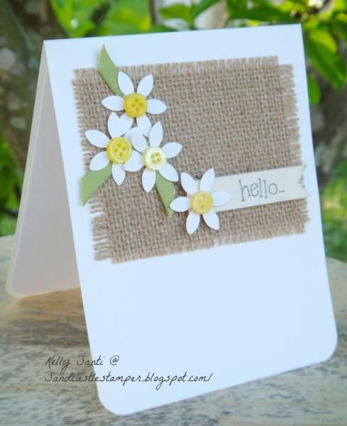 This is my 73rd card of the 100/100 challenge - just one I made for fun.  I saw a similar on Pinterest where she used brads and prima flowers and a paper banner, I thought I'd give this a try with whatever I had laying on my desk!  Literally each piece of this card is a scrap from something else!  Love how that happens :)   TFL!
