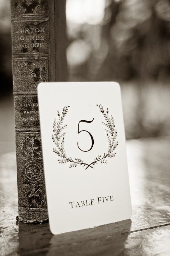 Sweet Vintage Wedding Table Number Signs 110 by SixpencePress, $15.00