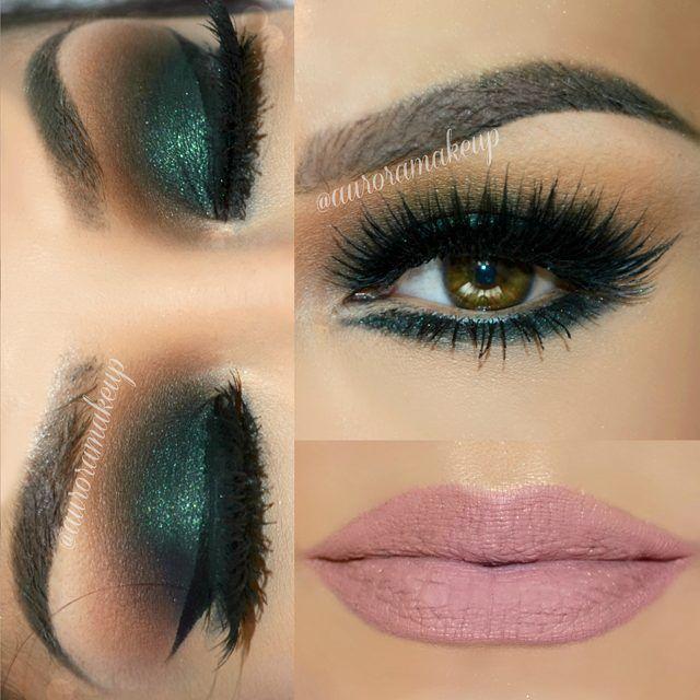Maquillaje de ojos color verde