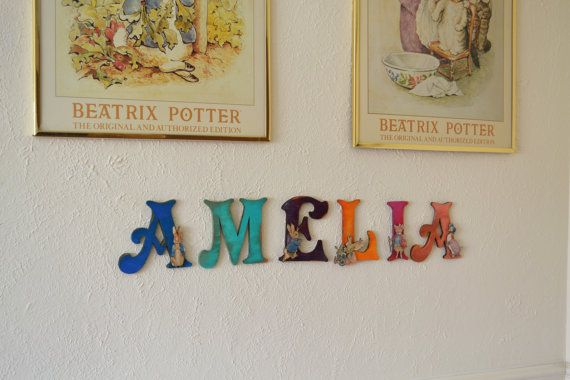 Personalised Wooden Name Plaques Beatrix by TheDutchHospital