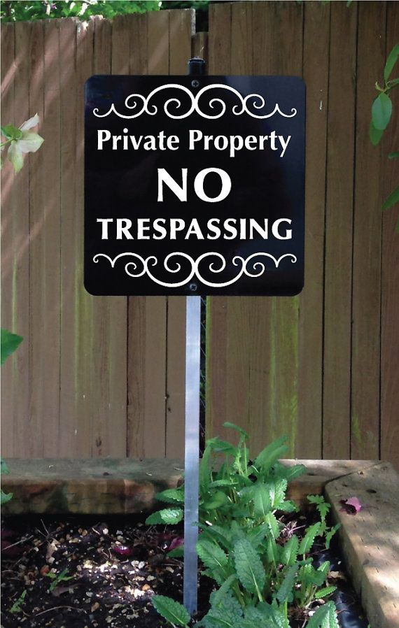Private Property NO TRESPASSING Yard Sign with by SignMachine
