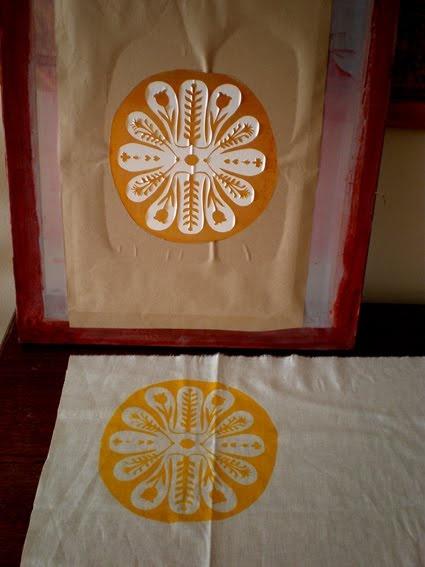 Printing using a paper stencil