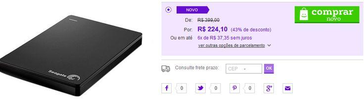 HD Externo Portátil Seagate Backup Plus Portátil 1TB << R$ 21289 rm 6 vezes >>