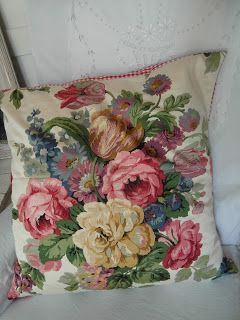 Feather-filled Sanderson cushion