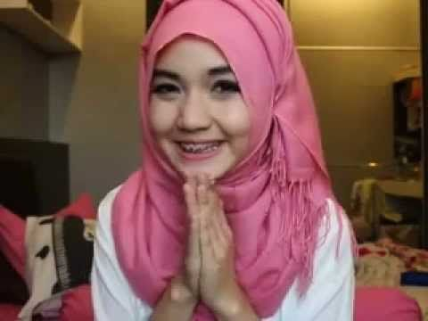 Hijab Arabian Style Tutorial - YouTube