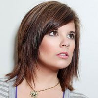 short to medium haircuts for brunettes