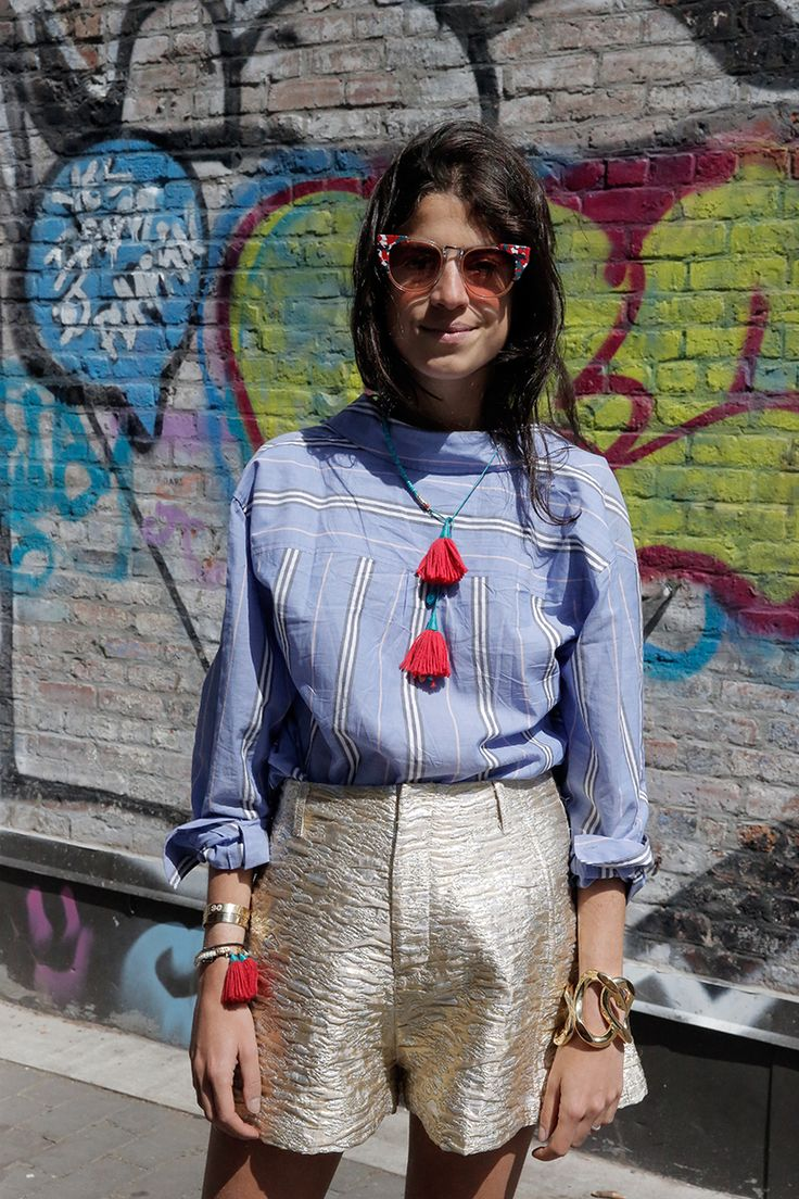 Repurposing Your Button Down | Man Repeller. Equipment shirt, worn backwards.: