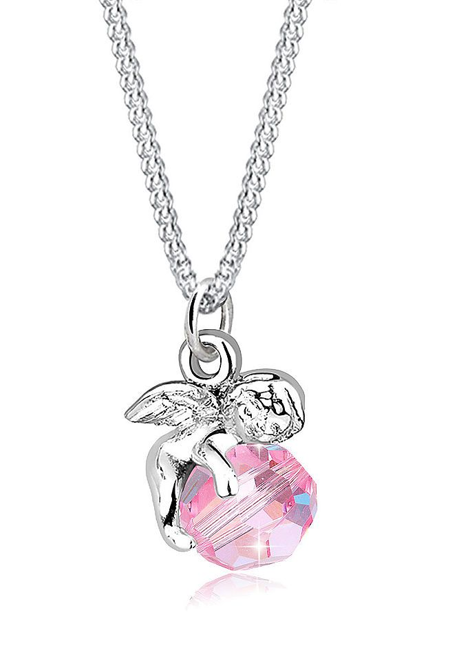 Elli Halskette »Engel Kugel Flügel Swarovski® Kristall Silber Mala« Jetzt bestellen unter: https://mode.ladendirekt.de/damen/schmuck/halsketten/silberketten/?uid=6885757c-cd18-5f5b-ae82-06946c19ac93&utm_source=pinterest&utm_medium=pin&utm_campaign=boards #schmuck #halsschmuck #halsketten #silberketten