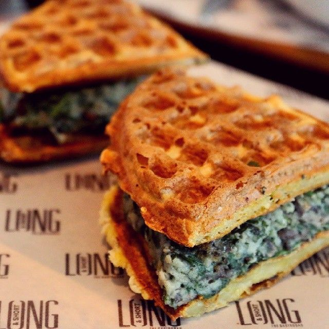 Cajun Waffle Sandwich @ Long & Short. Image Courtesy: Neeta Mehta