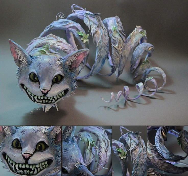 New from Ellen Jewett of creaturesfromel. This Cheshire Cat blows my mind!