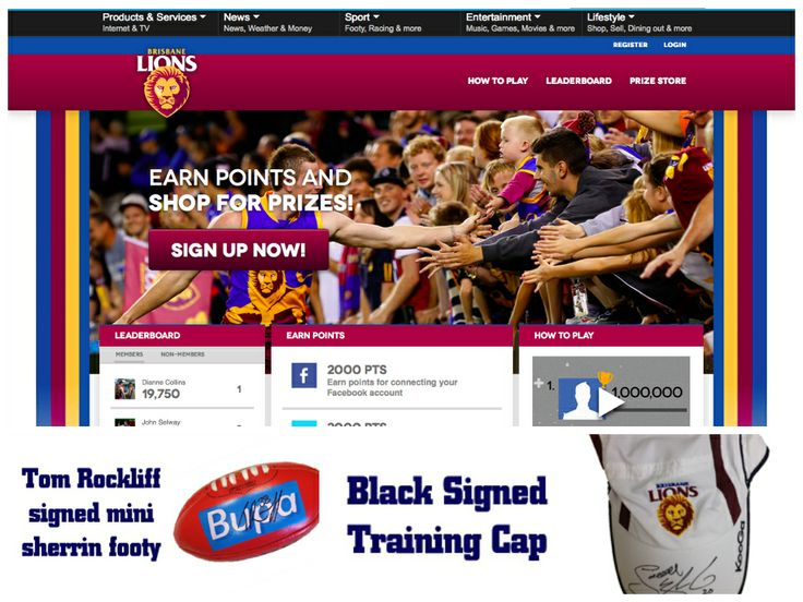 Great idea here from the Brisbane Lions to have a loyalty rewards program for members.