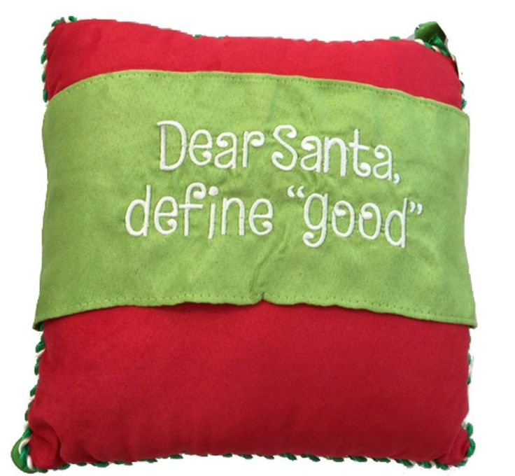 Dear Santa Message Throw Pillow