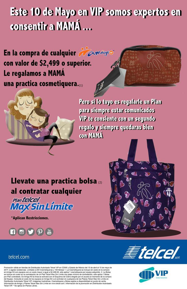 Solo en #VIPGLOBAL encontraras los que quiere MAMÁ, regala esta hermosa bolsa o una practica cosmetiquera en la compra de un Amigo Kit o un Plan Max Sin Limite. http://vipglobal.mx