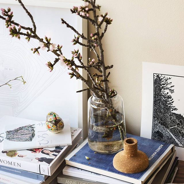 Cherry blossoms are the first signs of spring; New product arrivals and full blooms are next. Featured is our Polar Vase with a removable cork top. Limited stock remain in-store and online.