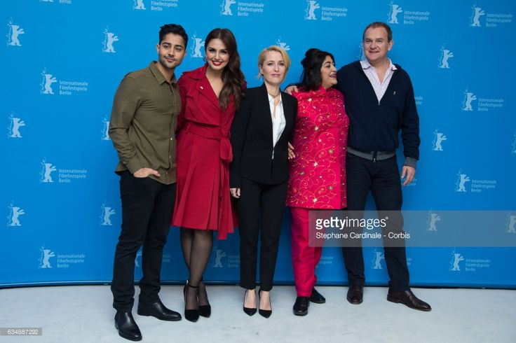 Actors Manish Dayal, Huma Qureshi, Gillian Anderson, film director Gurinder Chadha and actor Hugh Bonneville attend the 'Viceroy's House' photo call during the 67th Berlinale International Film Festival Berlin at Grand Hyatt Hotel on February 12, 2017 in Berlin, Germany.