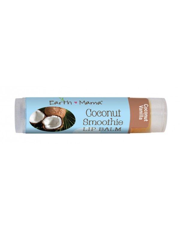 NYHET!   De økologiske leppebalsamene fra Earth Mama Angel Baby er ikke bare deilig mykgjørende, men de er også 100% vegane, økologiske, ikke testet på dyr og helt trygg i bruk for både liten og stor.   Coconut Smoothie Lip Balm har allerede rukket å bli en stor favoritt. Dette er en silkemyk leppebalsam med mild duft av kokos og vanlije. Den kjennes deilig på huden og er effektiv mot tørre og sprukne lepper.
