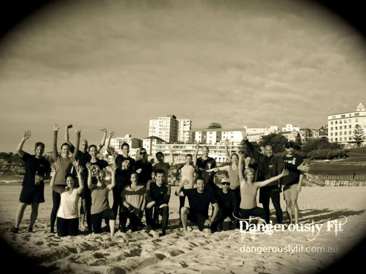 Week 8 done and dusted! Nice temperature, sun out and lots of sweaty faces working hard through the long and intense circuit. Mix of strength, body weight drills and runs, and Kettlebell drag on the sand as a finisher. We got a lot done and believe it or not, the BBs won the game again! http://www.dangerouslyfit.com.au/
